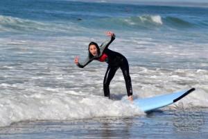 La primera clase de surf!